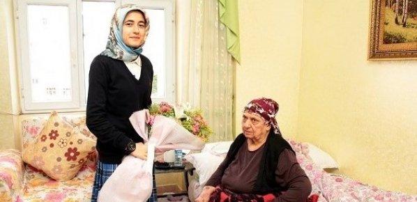 200 TL'lik Para Ödülünü Şehit Ailesine Hediye Etti.