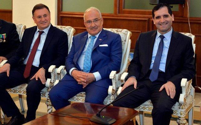 Başkan Kocamaz'dan Hatai Valisi Memmedov'a Ziyaret