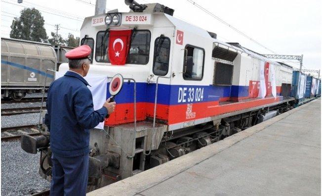 Demir İpek Yolu'na Türkiye'den İlk Yük Treni Uğurlandı