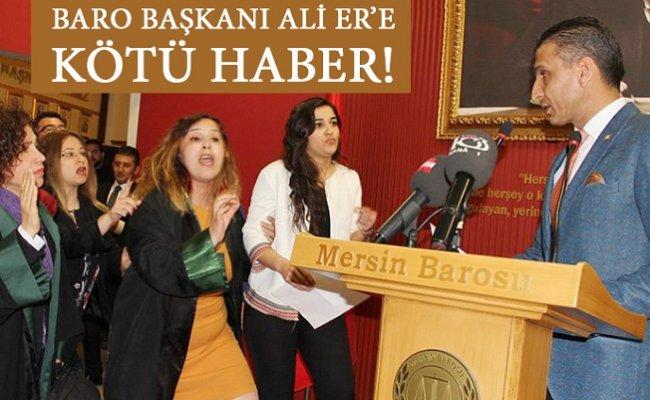 """""""Mersin Baro Başkanına Maganda"""" Sözü Suç Sayılmadı."""