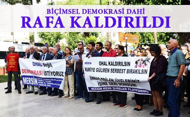 Mersin'de Kamu Emekçilerinden Demokrasi Vurgusu
