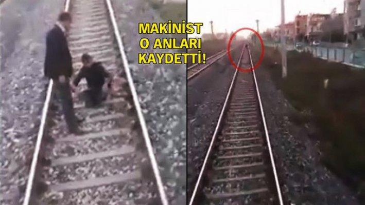 Mersin'de Tren Raylarında İntihar Girişimi