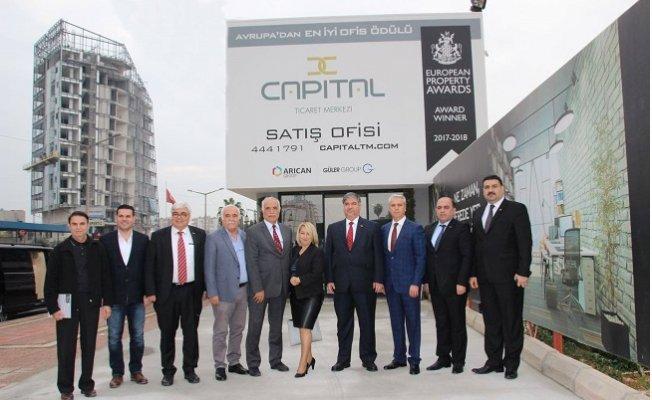 Irak'ın Ankara Büyükelçisi, Mersin'de İnşaatı Süren Capital Ticaret Merkezi'ni Ziyaret Etti.