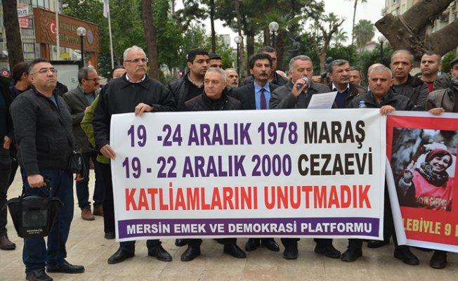 Maraş Katliamı Mersin'de Anıldı