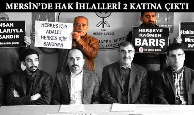 """Mersin'de """"1 Yılda 756 Hak İhlali!"""""""