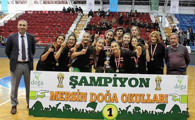 Mersin'de Baketbolda Şampiyonun Adı Doğa Koleji