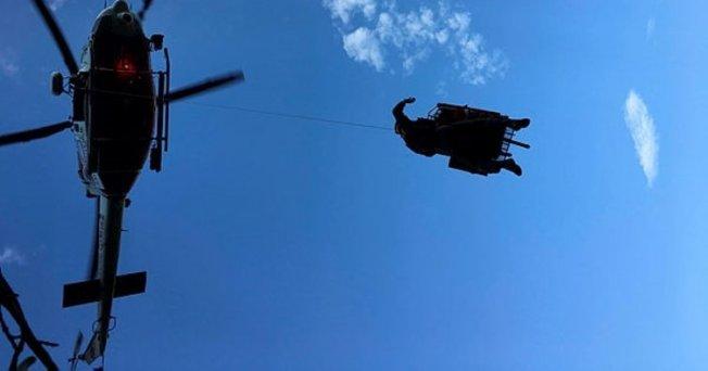 Mersin'de Yaralıya Helikopterli Tahliye