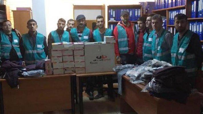 Mersin'de Yükümlüler ve Ailelerine Giyim Yardımı