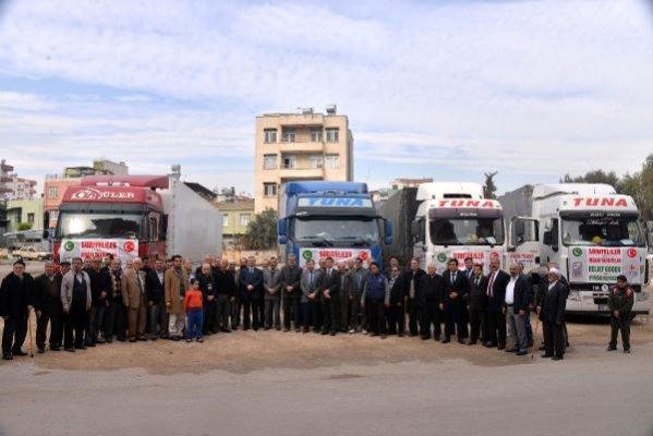 Mersin'den Suriye'ye 4 Yardım TIR'ı Yönderildi