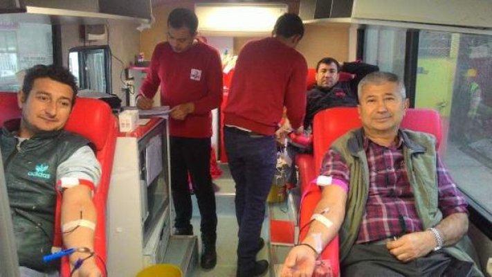 Sanayi Esnafından Kan Bağışı