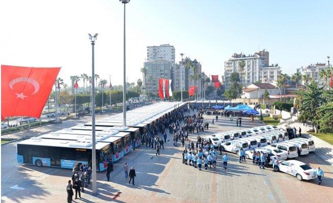 Mersin Büyükşehir'den 30 Yeni Otobüs