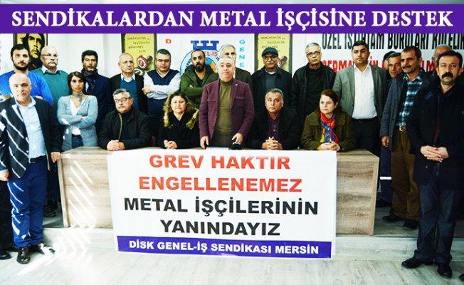 Mersin'de Metal İşçileri Grev Haklarını İstedi.
