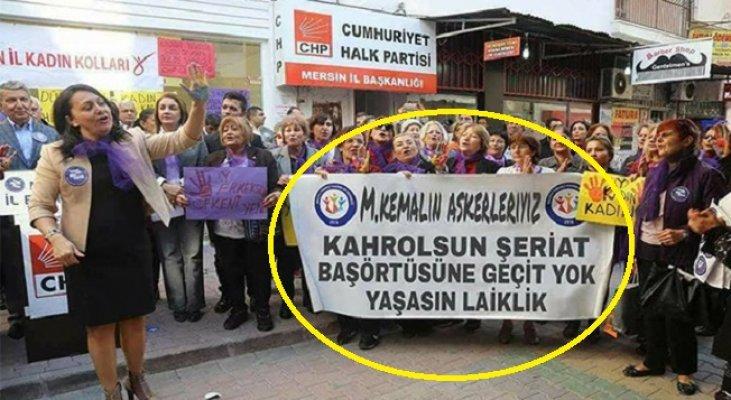 Mersin'de Provokasyona Bu Sefer CHP'li Kadınları Alet Ettiler