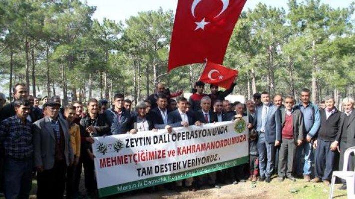 Mersin'de Yörüklerden Mehmetçik'e Destek