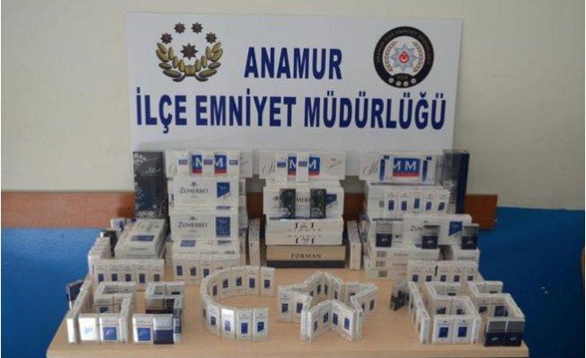 Anamur'da 3 Bin 500 Paket Kaçak Sigara Ele Geçirildi