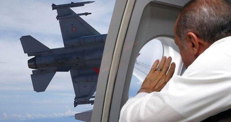 Erdoğan'ı Mersin'de Havada F-16 Uçakları Korudu