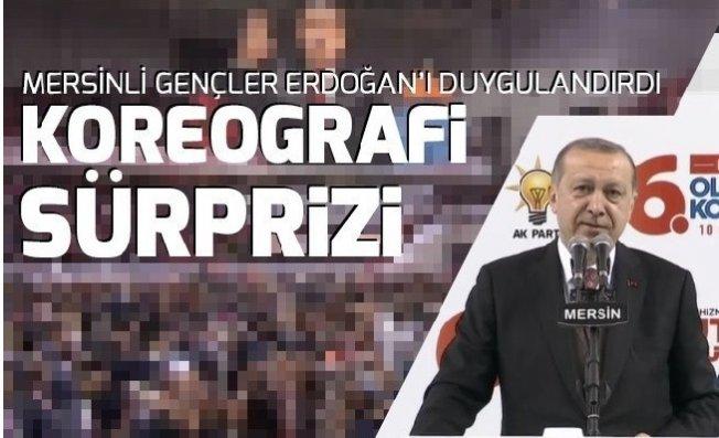 Mersin'de Cumhurbaşkanı'na Koreografi Sürprizi .