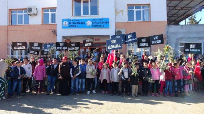 Öğrenciler Afrin Şehitlerini Andı