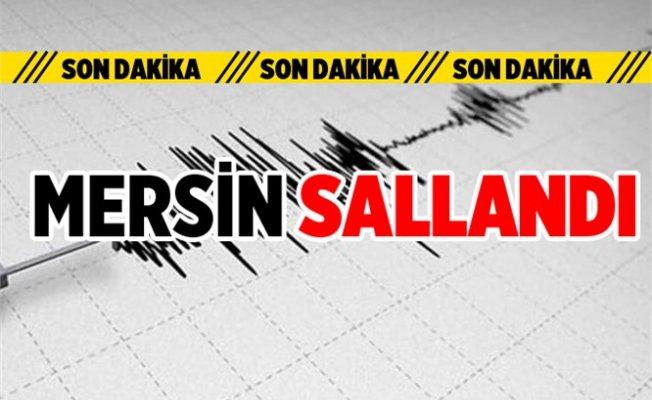 Antalya'daki Deprem Mersin'de Hissedildi.