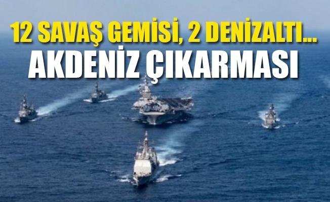 Türkiye Savaş Gemilerini Akdeniz'e Yönlendirdi.
