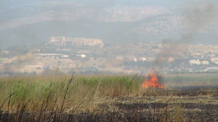 Göksu Deltasında Yangın Çıktı