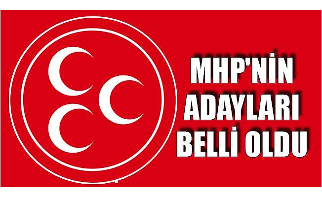 MHP'nin Mersin Milletvekili Aday Listesi Belli Oldu