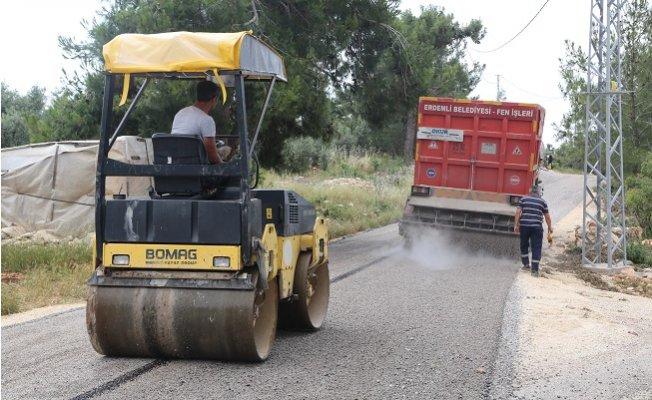Erdemli'de Asfalt Çalışmaları Hız Kesmiyor