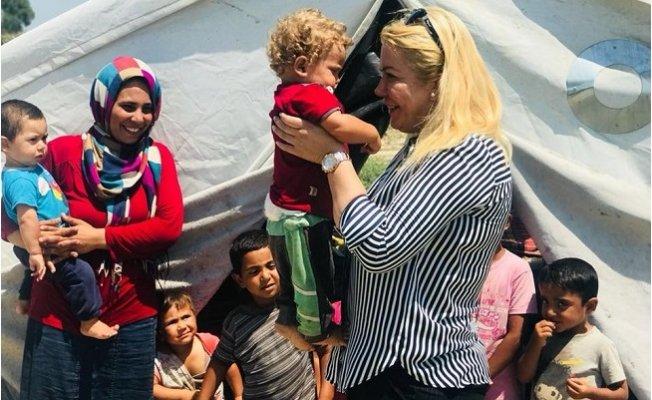 Saliha Adıcan Suriyeli Göçmenlerin Sorunlarını Dinledi.