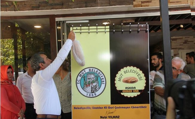 Askıda Ekmek Projesine Mut Belediyesinden Destek