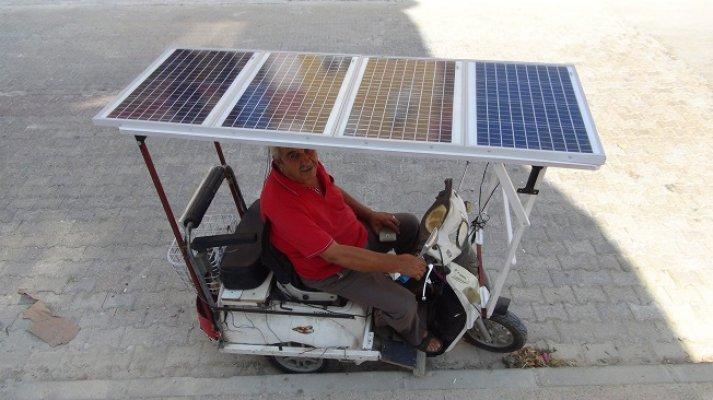Japonlardan Gördü Bin Liraya Güneş Panelli Bisiklet İcat Etti