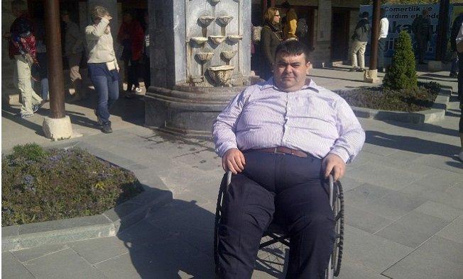 Tekerlekli Sandalyede 70 Kilo Verdi