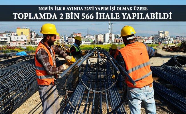 Mersin'de İhale Sayısı 2018'de Yerini Düşüşe Bıraktı.