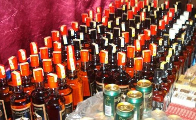 Mut'da 7 Litre Kaçak İçki Ele Geçirildi