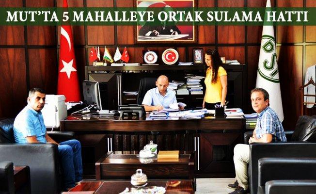 Mut'ta Yer Üstü Sulamaları Projesinde Sözleşme İmzalandı.