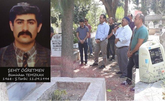 Şehit Öğretmen Buminhan Temizkan Mezarı Başında Anıldı