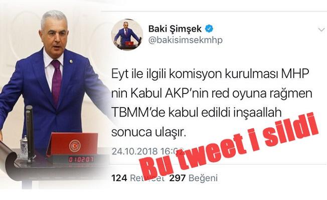 Bahçeli'nin Manevrasına MHP'nin Mersin Milletvekili Bile Yetişemedi
