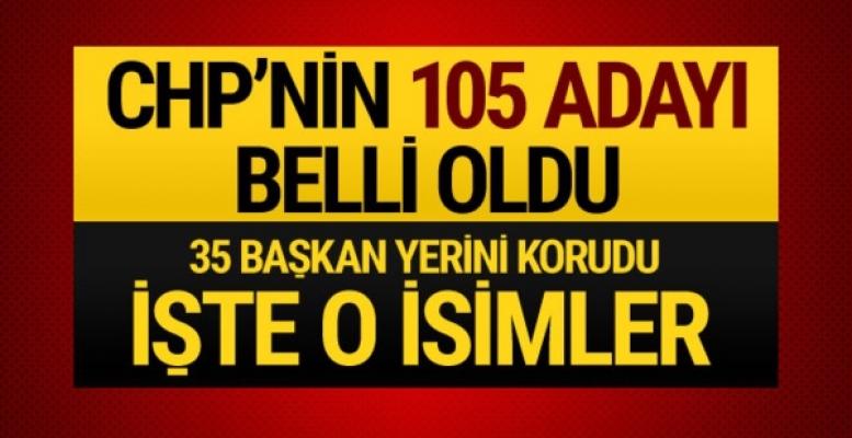 CHP'nin 105 İlçe ve Belde Belediye Başkan Adayı Belli Oldu