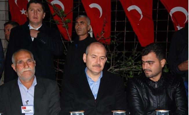 İçişleri Bakanı Soylu, Mersin'de Şehit Ferruh Dikmen'in Evini Ziyaret Etti