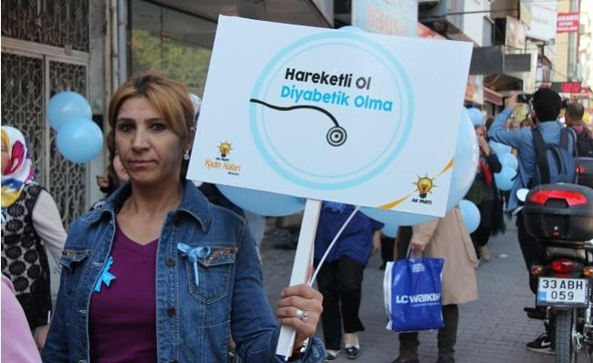 AK Parti'li Kadınlar 'Diyabete' Dikkat Çekmek İçin Yürüdü