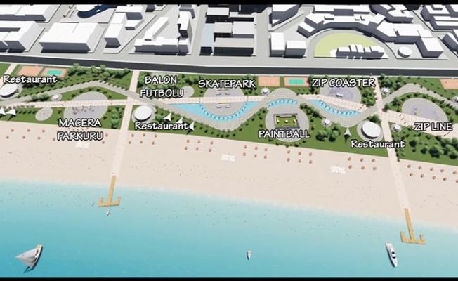 Mersin'de Tartışmalı Bölgeye Sahil Düzenlemesi
