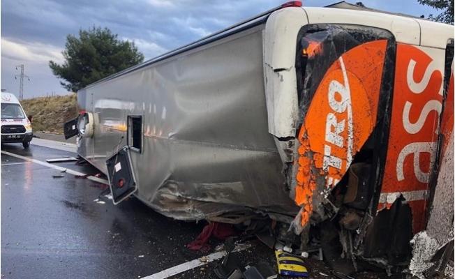Mersin'de Yolcu Otobüsü Devrildi: 25 Yaralı