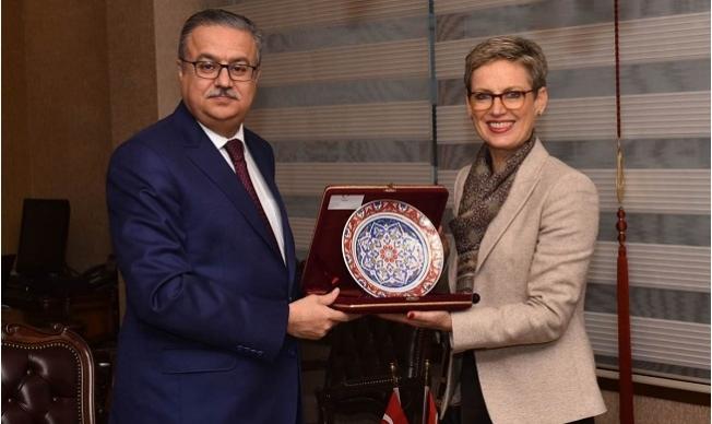 Avusturya'nın Ankara Büyükelçisi Tilly, Vali Su'yu ziyaret Etti