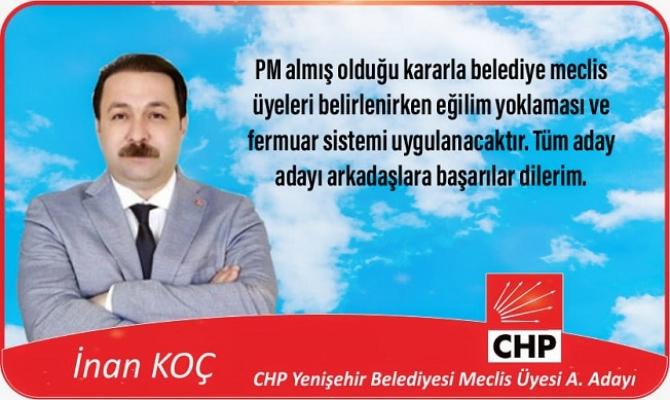 """İnan Koç: """"Kazanan CHP Olacaktır"""""""