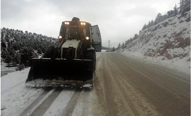Mersin'de Yoğun Kar Yağışı