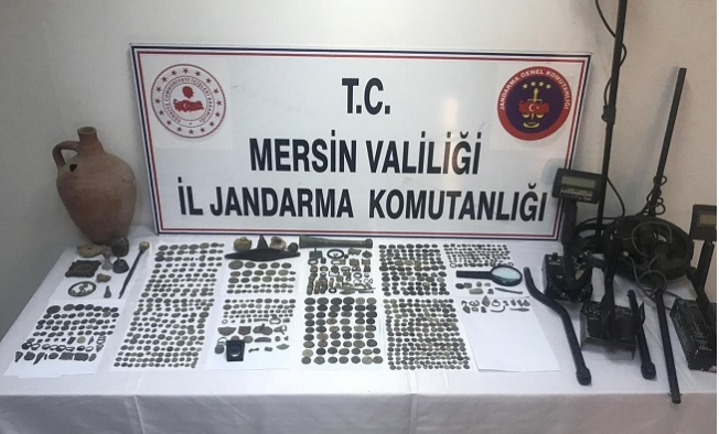 Mersin'de Tarihi Eser kaçakçılığı Operasyonu: 6 Gözaltı