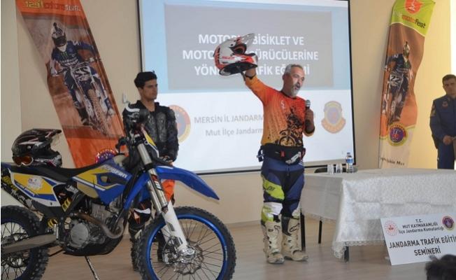 Mut'ta Öğrencilere Motosiklet Kazalarının Nasıl Azaltılacağı Anlatıldı