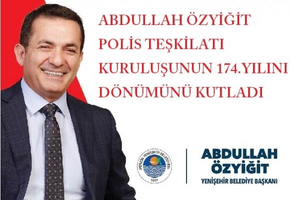 Abdullah Özyiğit, Polis Bayramını Kutladı.