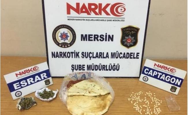 Mersin'de Ekmek Arası Uyuşturucu