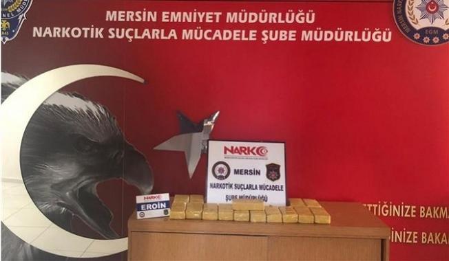 Mersin'de TIR'dan 15 Bin 500 Gram Eroin Maddesi Çıktı
