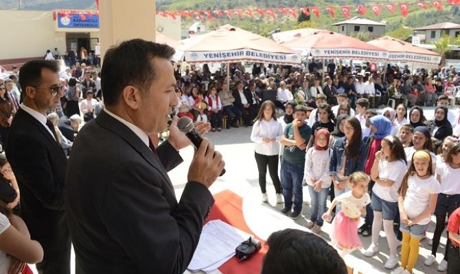Yenişehir Belediyesi 23 Nisan'ı Karahacılı Köyünde Kutladı.